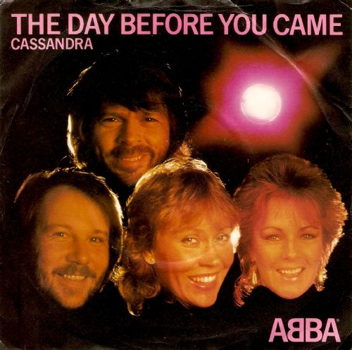 ABBA The Day Before You Came Vinyl Record 7 Inch Epic 1982